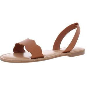 Bar III Leena Scalloped Sandals Size 7.5 M